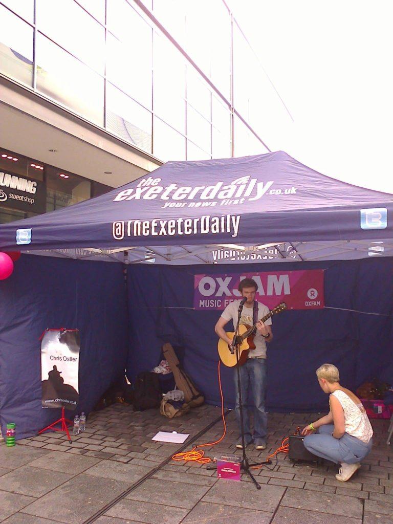 Oxjam, Princesshay, Exeter, Acoustic Solo