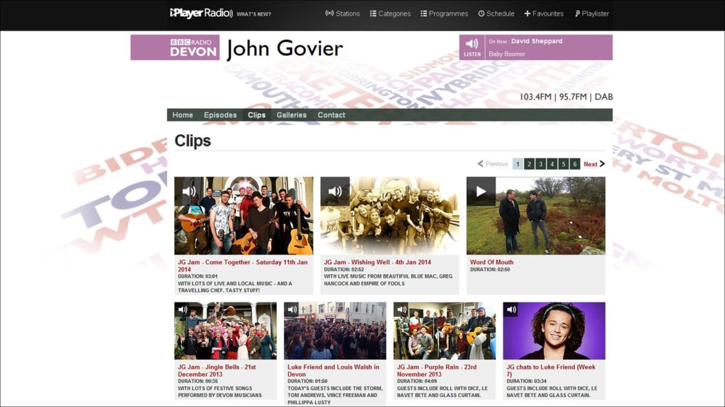 BBC Radio Devon - John Govier Interview